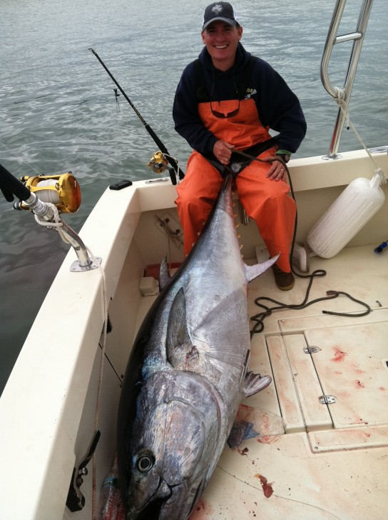 Jack murphy catches a 79inch bluefin on 6 17 11 high for Bank fishing near me