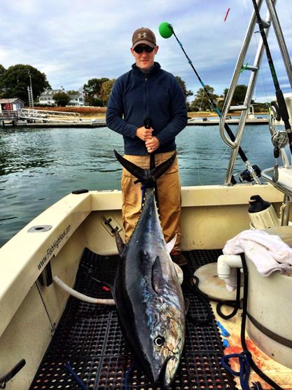 A nice size Tuna landed on the Ducks Unlimited Charter.