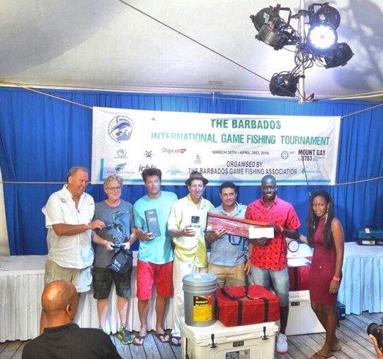 The Crew from Legacy with 2nd place in the Barbados International Tournament.