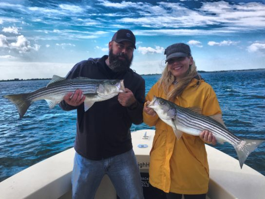 Striped Bass caught on High Hook out of Duxbury